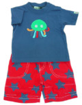 Lilly + Sid Octopus T and Board Short Set.