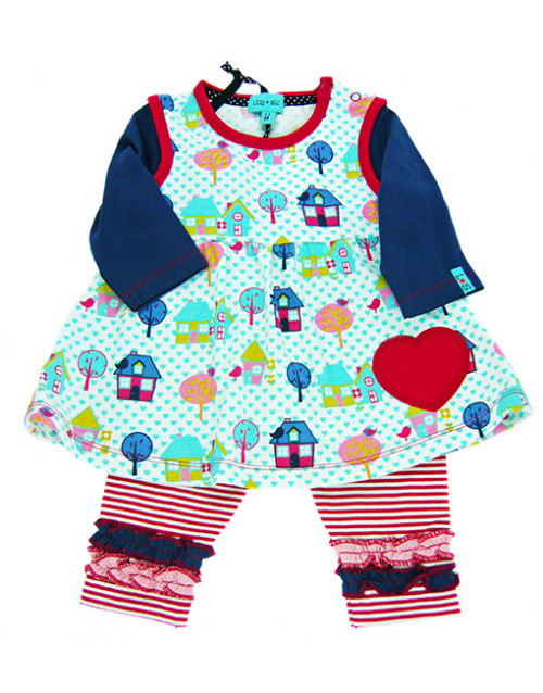 Lilly + Sid Liittle Houses dress and trouser set.