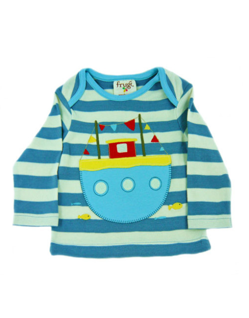 Frugi Striped Boat Top