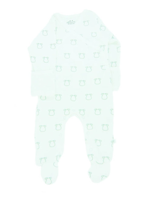 Mittymoos Grey Cow Outline Romper