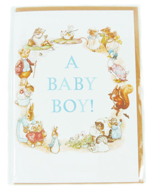 Beatri Potter Baby Boy Card