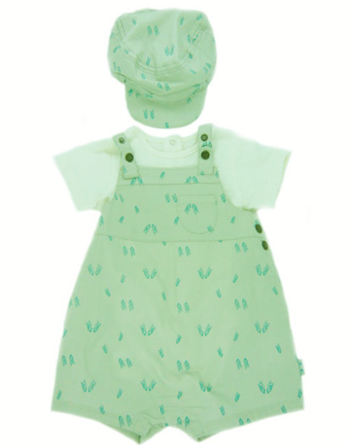 Boys Bird Print Romper Set