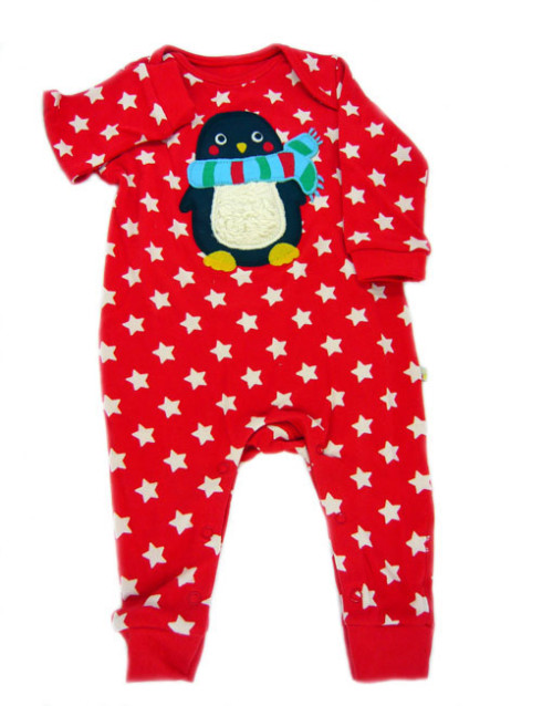 Frugi Red Star Romper